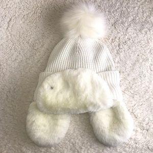 Ugg Knit and Faux Fur Trapper hat